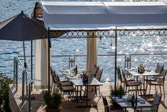 Restaurant Terrasse im Hotel Vitznauerhof am Vierwaldstättersee  #restaurants #Vitznauerhof #Vierwaldstättersee Planets, Food Photography, Restaurants, Patio, Outdoor Decor, Home Decor, Flying Dutchman, Road Trip Destinations, Explore