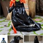 Witch,+made+of+black+bags+and+a+bottle+of+mineral+water+:)