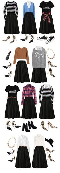 Veja como é possível montar vários looks com poucas peças de roupa! #VivereStore