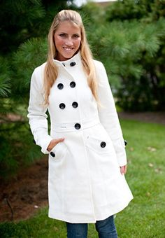 White Pea Coats - Coat Nj