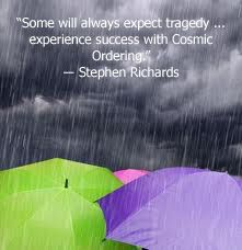 Cosmic Ordering quote by mind power author Stephen Richards.