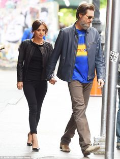 Jim Carrey's ex-girlfriend Cathriona White, 28, has committed suicide. Carrey and the Irish beauty pictured above in New York City in May, with Carrey sporting a jersey for the Irish hurling team from White's home county of Tipperary