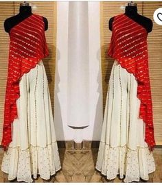 Red Crop Top Bottom plazo indian dress red and white color function wear Wedding wear party wear skirt lengha choli Choli Designs, Kurta Designs, Kurti Designs Party Wear, Blouse Designs, Shrug For Dresses, The Dress, Dress Red, Crop Dress, Ball Dresses