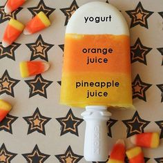 Look at this healthy treat I saw today!! I think some healthy candy corn Popsicles are going to happen today!