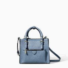 ZARA - WOMAN - MINI CITY BAG WITH ZIP DETAILS