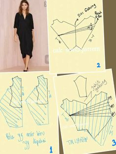 Ideas For Sewing Patterns Blouse Stitches Kaftan Pattern, Pattern Draping, Blouse Patterns, Clothing Patterns, Sewing Patterns, Sewing Baby Clothes, Cocoon Dress, Dress Making Patterns, Dress Tutorials