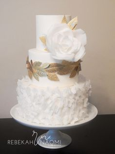 Grecian Wedding Cake - Cake by Rebekah Naomi Cake Design