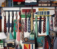 What a great way to store/display ties. #Prep #Preppy #Polo #RalphLauren