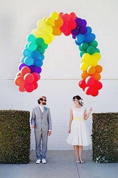Engagement photos - Rainbow Arch
