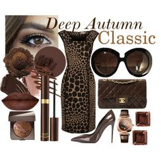 Deep Autumn Classic Style by prettyyourworld on Polyvore featuring Michael Kors, Dolce&Gabbana, Chanel, Glashütte Original, Marc by Marc Jacobs, Valentino, Tom Ford, Laura Mercier, Burberry and Smashbox