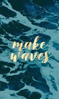 Make Waves in Gold Art Print | Society6