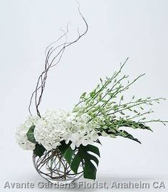 contemporary orchid floral arrangements | ... Floral Design Gallery - Anaheim, CA : White Hydrangea and Orchid