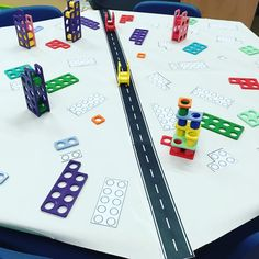 Excited to see the children& reaction on Monday morning with this numicon city maths table. Early Years Teaching, Early Years Maths, Early Years Classroom, Year 1 Maths, Early Learning, Maths Eyfs, Eyfs Classroom, Math Literacy, Classroom Ideas