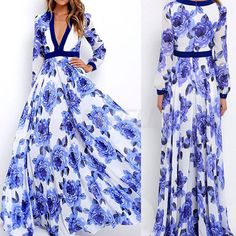 NEW Ladies Floral Maxi Boho Summer Long Skirt Evening Cocktail Party Dress 6-18   Clothing, Shoes & Accessories, Women's Clothing, Dresses   eBay!