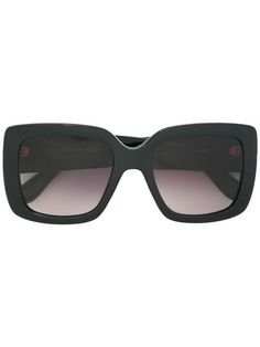 bed2fd7ed12 Gucci Eyewear Logo Plaque Sunglasses - Farfetch