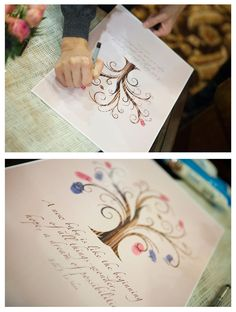 "$26 ""Leaf"" your thumbprint with this alternative to a regular guest book. Have a custom guest book fingerprint tree made just for you. This Guest book fingerprint tree is perfect for weddings, baby showers, anniversary's, and and family event."