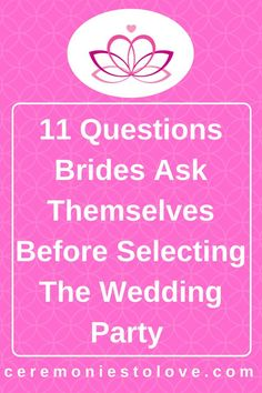 Choosing your bridal party can be stressful for many brides. Before your make any decisions of issue the invites, read these tips and take the time to think about what you want the atmosphere to be both while planning and on your wedding day. Wedding Advice, Budget Wedding, On Your Wedding Day, Diy Wedding, Wedding Planner, Destination Wedding, Wedding Reception, Wedding Ideas, Wedding Blog