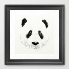 PANDA Framed Art Print by Laure.B