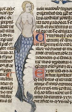 Category:Images released by British Library Images Online Weird Sea Creatures, Fantasy Creatures, Mythical Creatures, Medieval Manuscript, Medieval Art, Illuminated Manuscript, Fantasy Mermaids, Mermaids And Mermen, Vintage Mermaid