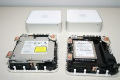 Mac mini vs Mac mini Server (2009) - The two versions are essentially identical with the exception of swapping in a second hard drive for the optical drive