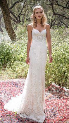 limor rosen 2017 bridal spagetti strap sweetheart neckline full embellishment lace elegant mermaid wedding dress scoop back chapel train (holly) mv