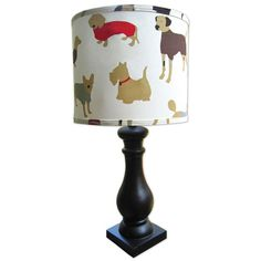 Doggy Friends Lamp Shade from PoshTots  **cg** Lighting for boys