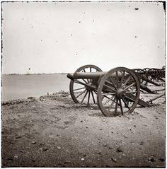 1865. Charleston Harbor, South Carolina. View from the parapet of Fort Sumter.