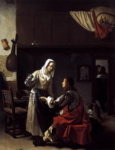 Frans van Mieris, Man and woman in a tavern 1659