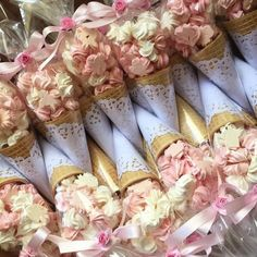 Fest as - suspiro Candy Party, Party Treats, Unicorn Party, Unicorn Birthday, Shower Inspiration, Candy Bouquet, Baby Shower Cookies, Wedding Favours, Pink And Gold
