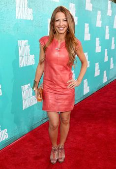Drita D'Avanzo Photos - Television personality Drita D'Avanzo arrives at the 2012 MTV Movie Awards held at Gibson Amphitheatre on June 2012 in Universal City, California. Dress Up, Bodycon Dress, Mtv Movie Awards, Leather Trousers, Leather Dresses, Red Carpet Looks, Leather Fashion, Mini Skirts, Celebs