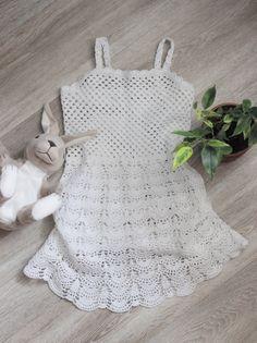 Платье Летнее Вязаное Крючком - Little Girl Crochet Summer White Dress