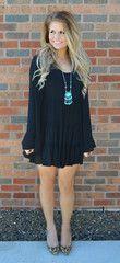 Baby Got Back Babydoll Dress - Black / Small