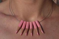 La vie en rose Necklace by corazondegalleta on Etsy, $35.00