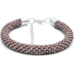 Frosted Opaque Lavender Bead crochet rope bracelet by CherryLimeUK