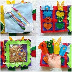 Brincadeira sensorial: fazendo um livro de pano para seu bebê