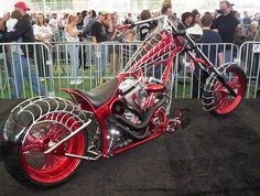 #HarleyDavidson Black Widow. This is the OCC bike built for the Spiderman movie! Of course they film a Harley! You know I'm loving the color! #www.nycfitnessfamilyfinds.net