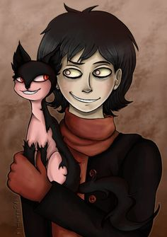Grinny cat smile Creepypasta  ❤ liked on Polyvore featuring