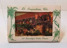 Vintage Antique 1940s Miniature Postcard St. Augustine Florida Fountain of Youth