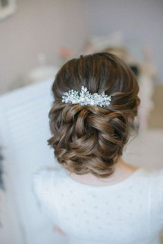 elegant wedding updo hairstyle from Enzebridal