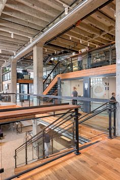 Step Inside Clever's Cool San Francisco Office Open riser stairs connecting multiple office levels Warehouse Office Space, Warehouse Design, Cool Office Space, Loft Office, Office Plan, Office Space Design, Open Office, Workspace Design, Office Interior Design