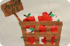 apple basket craft