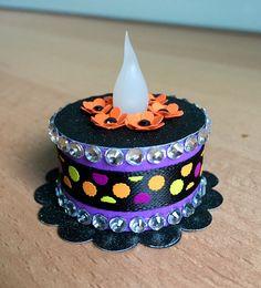 """Halloween"" Tea Light Cake (made by Kim)"