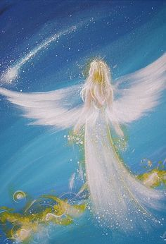 "Limited angel art photo ""living my dreams""  , modern angel painting, artwork,ideal also for picture frame, gift,spiritual,magic,mystic"
