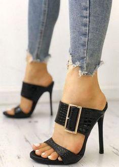 3c5b730f8 Heeled Sandals, Shoes Sandals, Heeled Boots, Shoe Boots, Shoe Closet,  Beautiful