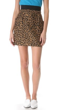 lusting after....3.1 Phillip Lim Leopard Side Pocket Skirt