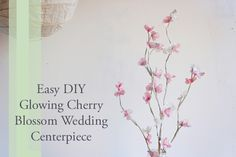 glowing cherry blossom branch . how to-sday - Shrimp Salad Circus