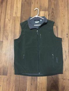 BLACK DIAMOND Polartec Green Full Zip Up Vest Size XXL EUC #BlackDiamond #Vest