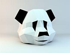 low poly panda head by Fabricio Rosa Marques
