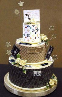 """High Class Gucci Cake.  Maybe I should pin this on my """"If I Were Rich"""" Board instead? lalalaha ~Bev"""