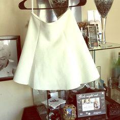 Skater Skirt Off white Skater skirt worn once shown in picture Honey Punch Skirts Mini